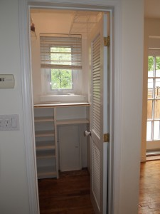 Pantry - notice small window