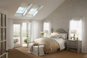 Velux skylight operable with blinds