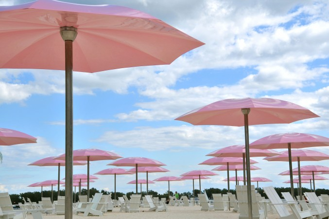 Pink Umbrellas at Sugar Beach, Toronto